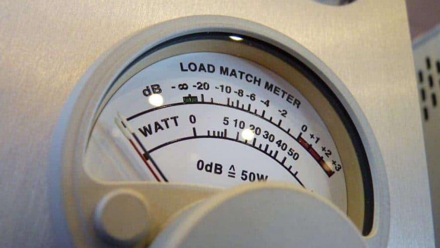 Buizenversterker load meter