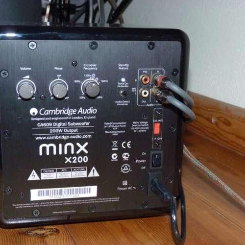 Sub 200 Cambridge audio instellingen