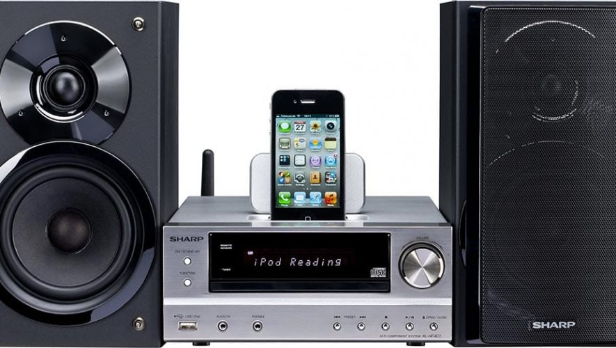 Sharp xl-hf401ph miniset met AirPlay