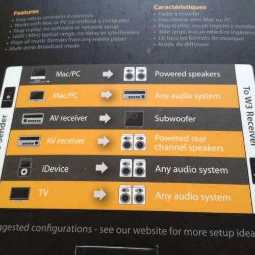Audioengine W3 setup mogelijkheden