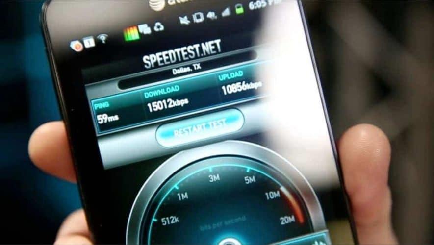 4G ineternet speedtest