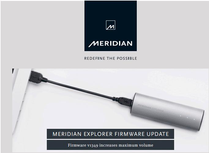 firmware Meridian Explorer