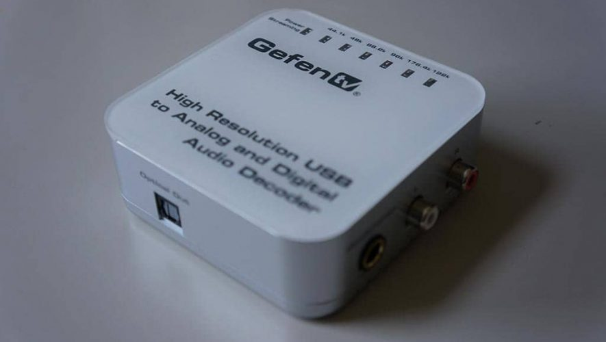 GefenTV USB DAC bovenkant