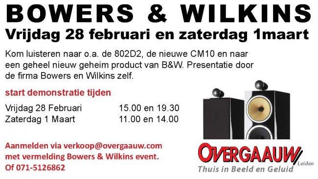 bowers en wilkins demonstratie show