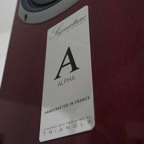 Triangle Signature Alpha naamplaatje