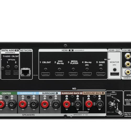 Denon AVR-X1100W achterzijde