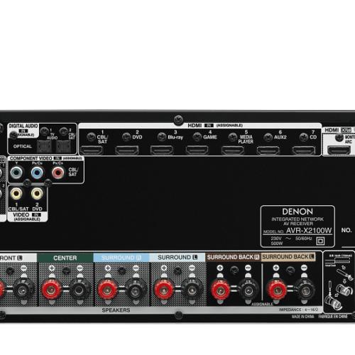 Denon AVR-X2100W achterzijde