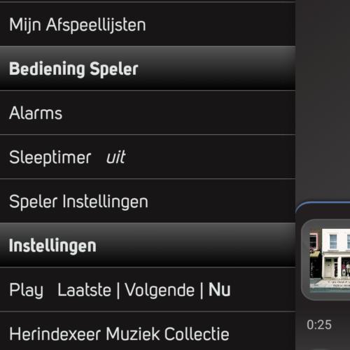 Bluesound 116 app wekker