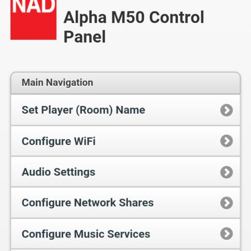 NAD M50 App