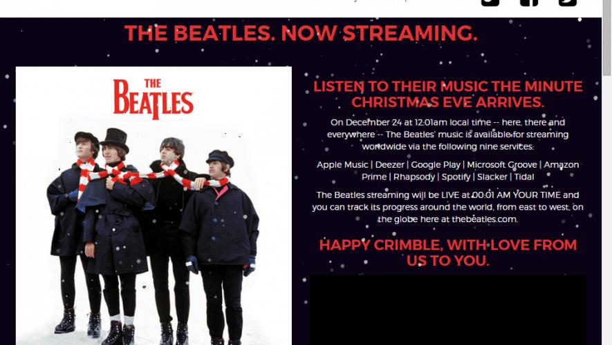 Beatles op Spotify