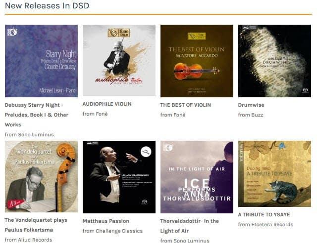 Zomaar een greep uit de catalogus van Native DSD Music