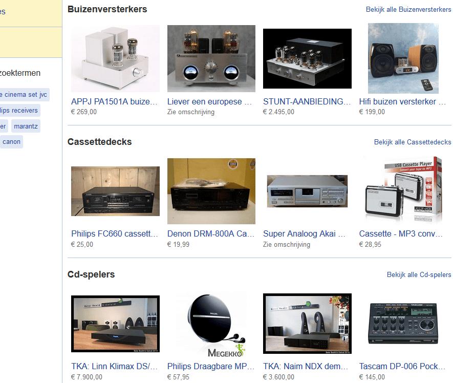 Ook voor audio-apparatuur is Markplaats een goede bron