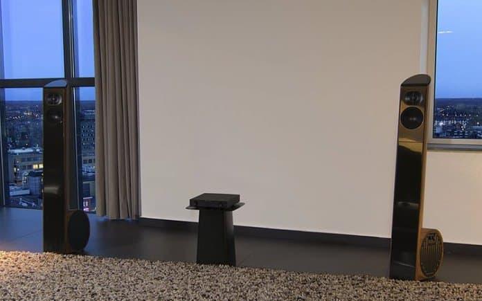 De Ensis muzieknootvormige speakers van Aequo Audio