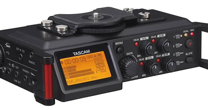 De Tascam DR-70D is bedoeld voor gebruik in combinatie met een DSLR