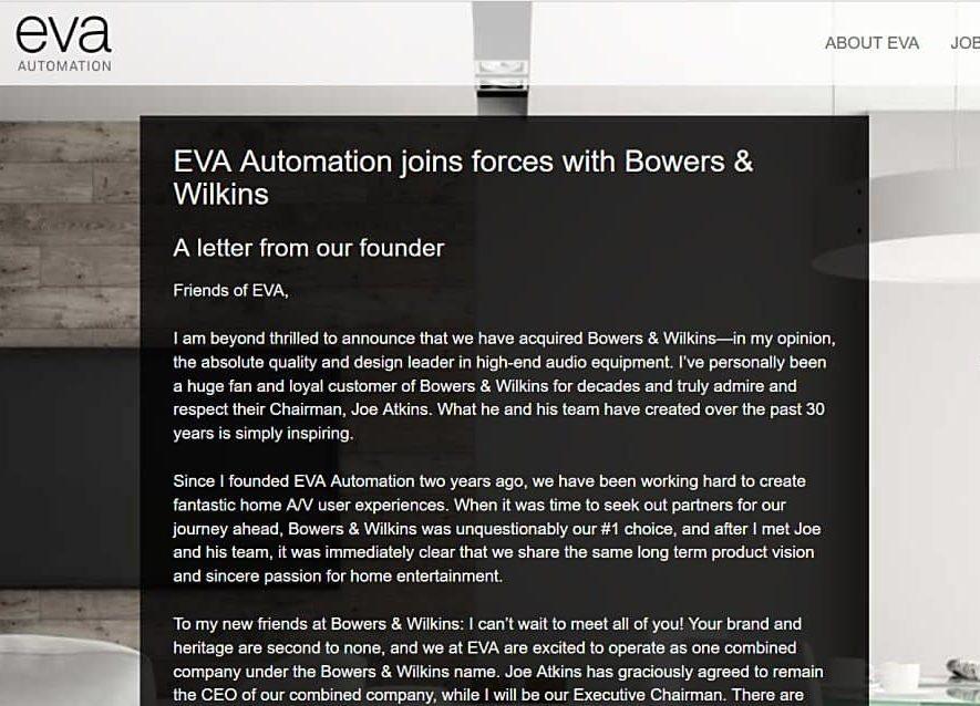 Het opvallende bericht betreffende de overname van Bowers & Wilkins