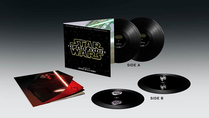 De Star Wars LP-set met ingebakken zwevend hologram