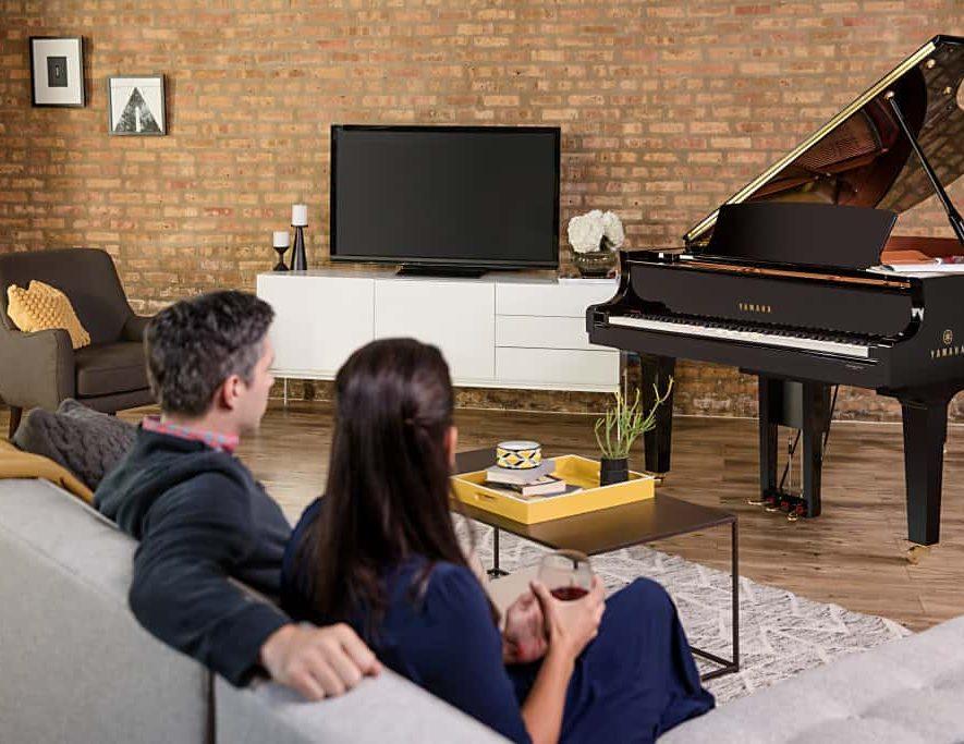 De disklavier ENSEMBLE, een piano met Yamaha MusicCast aan boord