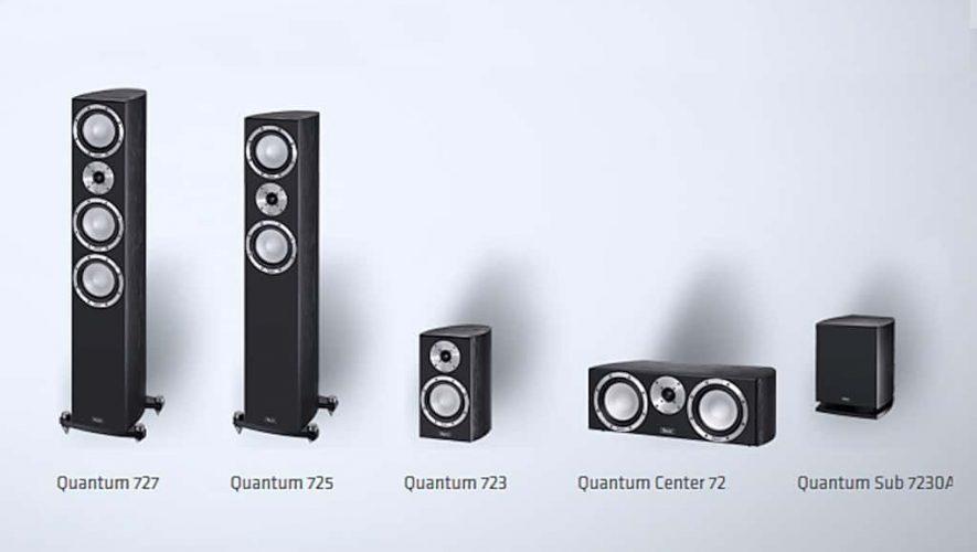 Alle onderdelen van de Magnat Quantum 720-serie op een rijtje