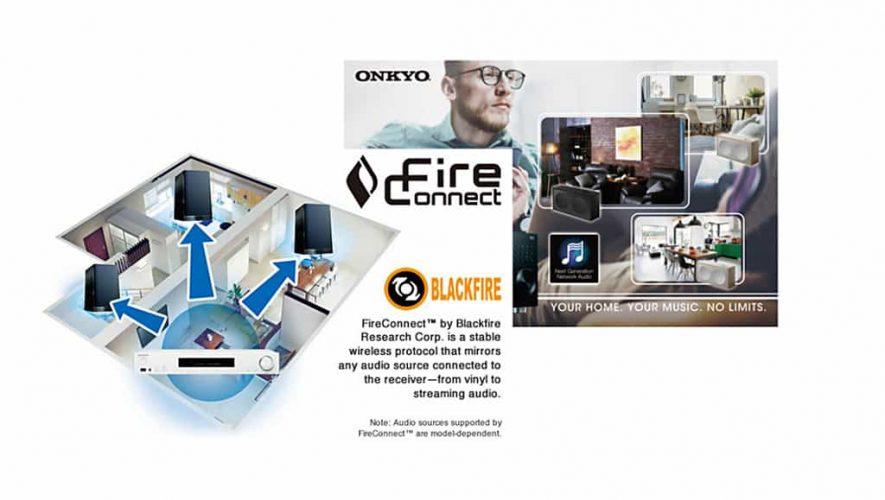 Dankzij een firmware-update streamt u binnenkort geluid via FireConnect naar draadloze Onkyo-speakers
