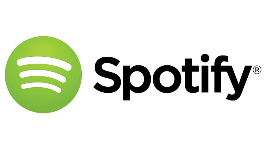Spotify zet niet betalende gebruikers in de wacht (bron afbeelding: https://commons.wikimedia.org/wiki/File:Spotify_logo_horizontal_white.jpg)