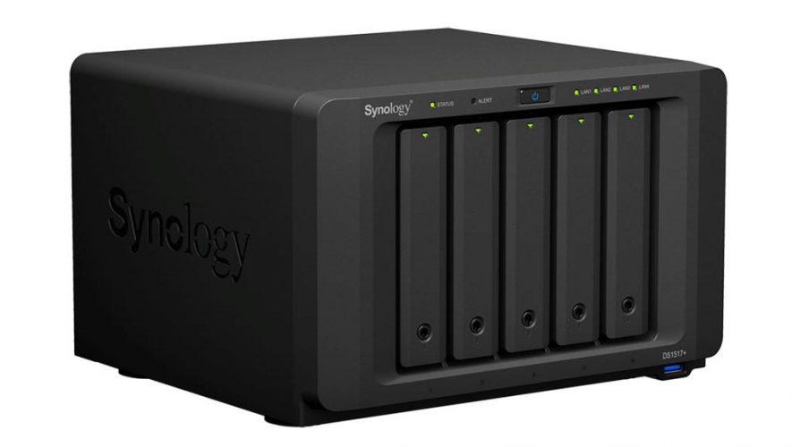 De Synology DS1517+, een van de nieuwe DiskStations