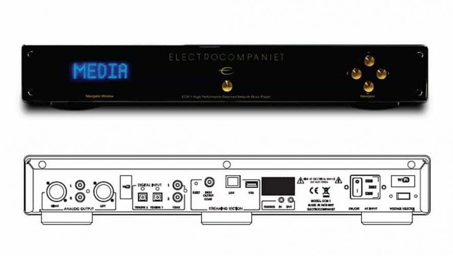 De ECM 1 van Electrocompaniet (bron afbeelding: http://www.fairaudio.de/news/electrocompaniet-ecm-1-streamer-dac-05-17/#prettyPhoto)