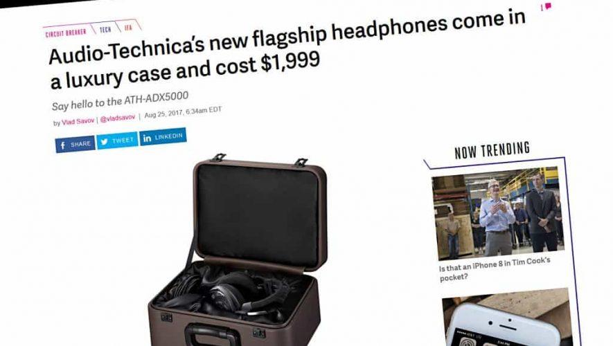 De Audio Technica ATH-ADX5000 zoals te zien op de website van The Verge