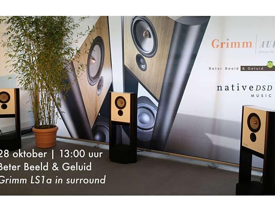 Grimm LS1a in surround bij Beter Beeld & Geluid