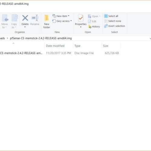 PFSense image file
