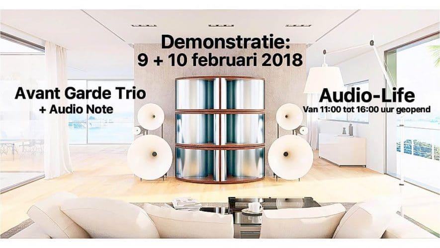 Op 9 en 10 februari organiseert Audio-Life een groot Avantgarde Acoustic spektakel