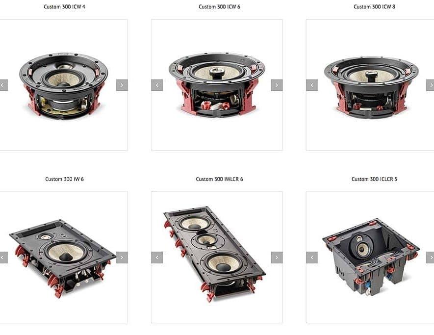 De nieuwe serie Focal Custom 300-serie inbouwspeakers