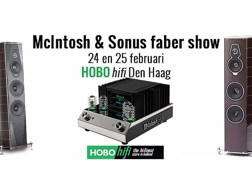 Hobo Hifi organiseert op 24 en 25 februari een McIntosh en Sonus Faber show