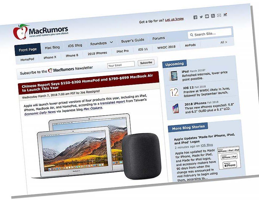 MacRumors gokt dat er een goedkopere Apple HomePod onderweg is