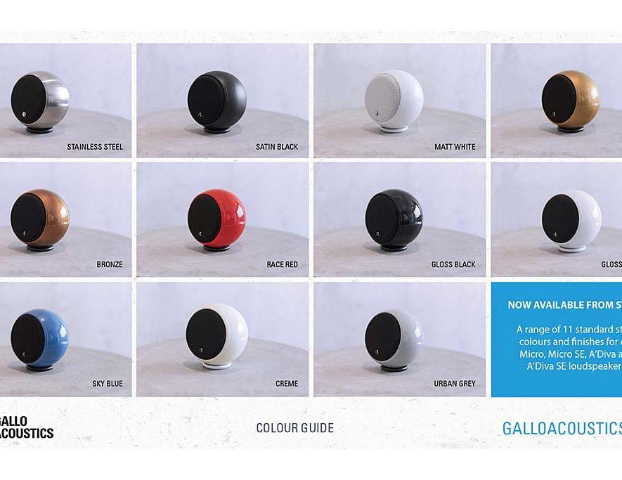 Kleurrijke speakers van Gallo