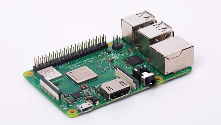 De Raspberry Pi 3B+ (bron afbeelding: https://www.raspberrypi.org/products/raspberry-pi-3-model-b-plus/)