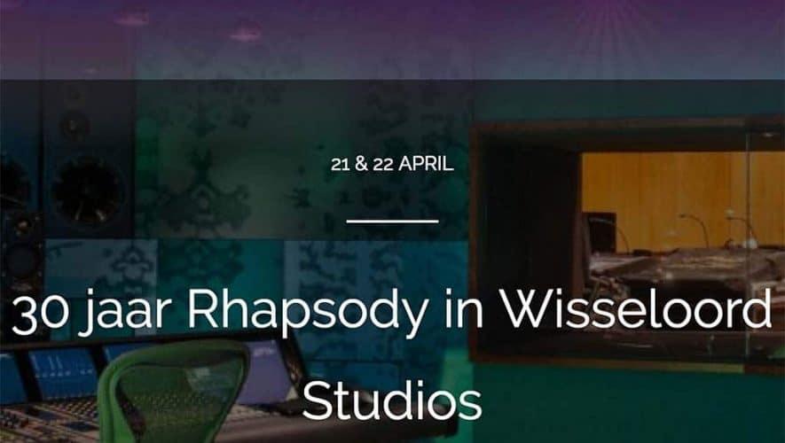 Rhapsody pakt komend weekend groots uit met een jubileumfestijn in de Wisseloord Studios