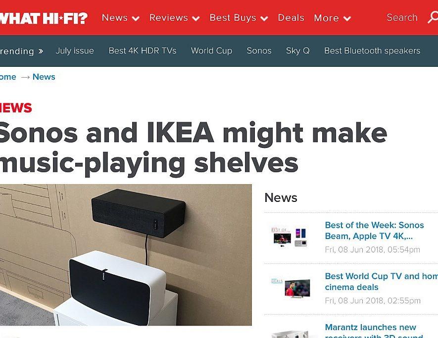 Sonos en IKEA komen wellicht met echte boekenplank-speaker
