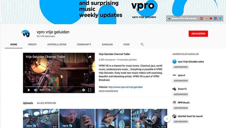 Op het YouTube-kanaal van Vrije Geluiden is een schat aan materiaal te vinden