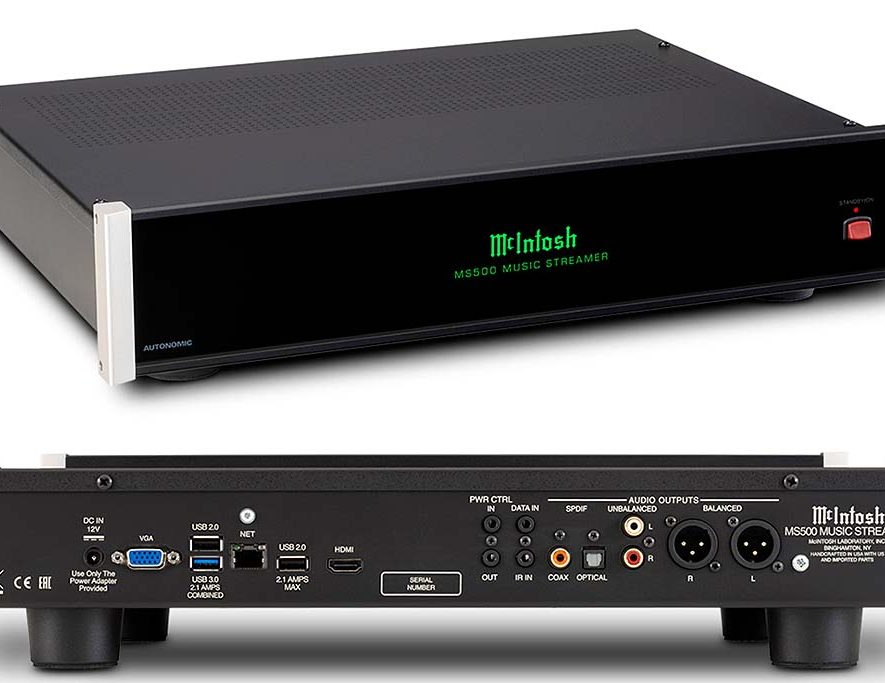 De nieuwe MS500 streamer-server van McIntosh