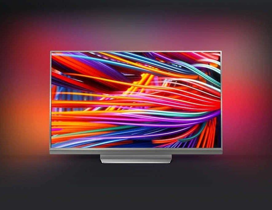 Een nieuw model Philips televisie