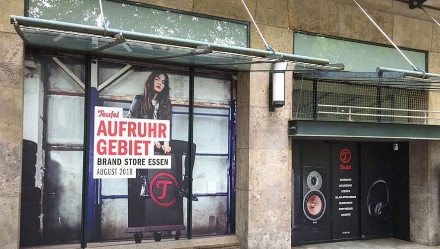Teufel opent brandstore in Essen