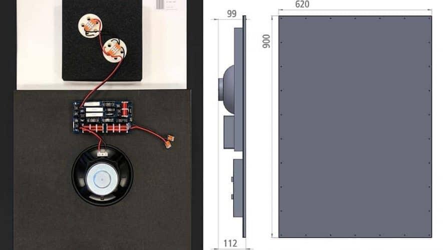 De Ceratec Cerasonar 9062 fr is een echt onzichtbaar weg te werken speaker