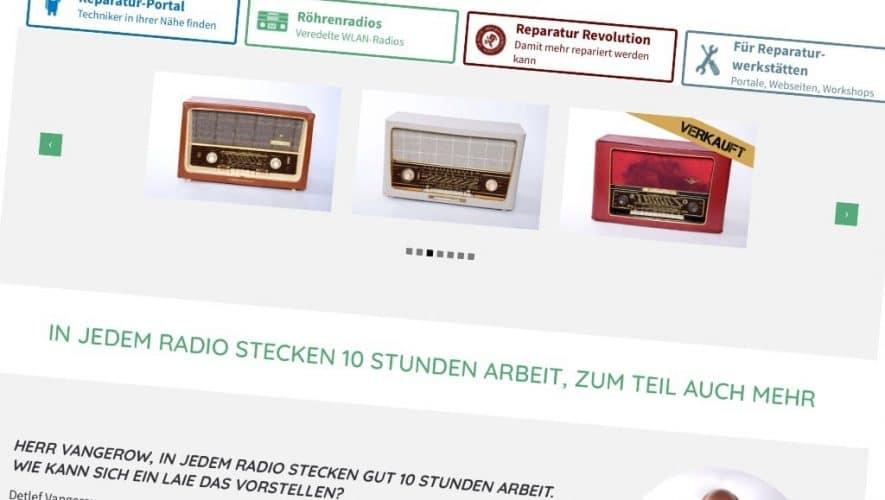 Het Duitse Vangerow restaureert uw buizenradio en maakt hem ook weer helemaal bij de tijd