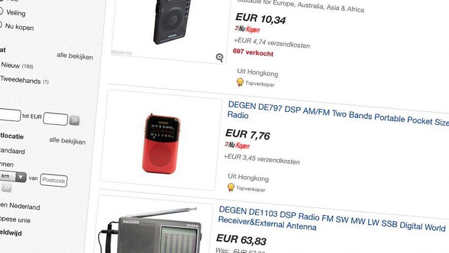 Radio's voorzien van een DSP-tuner zijn goedkoop en efficiënt
