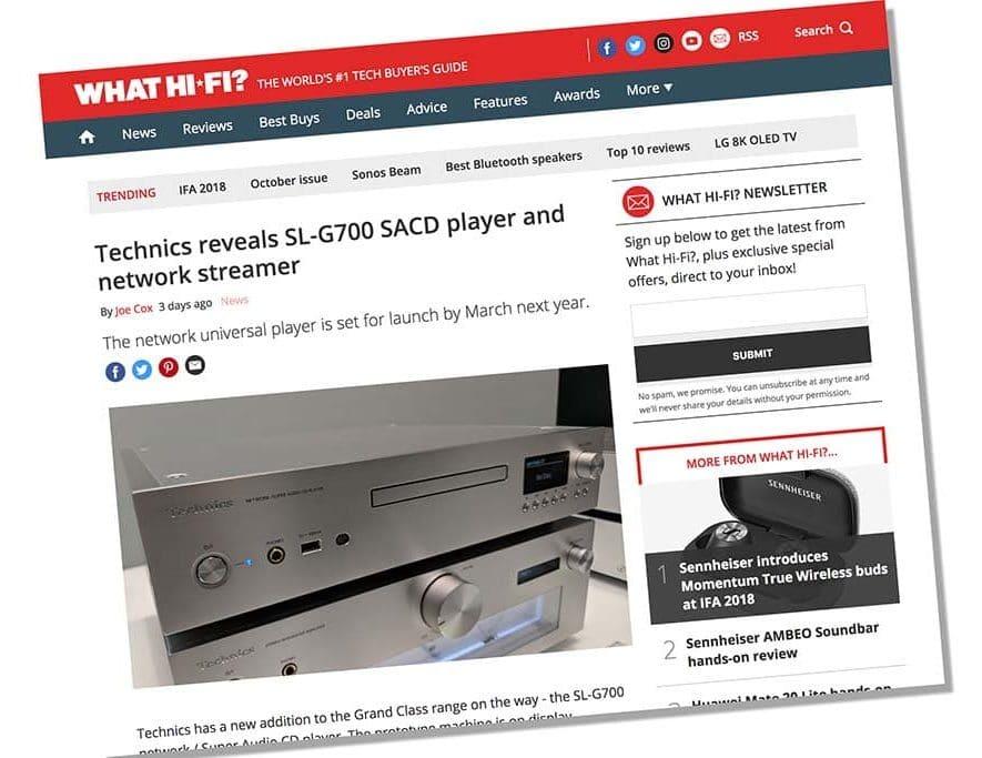 Technics onthult prototype SL-G700 streamer-SACD-speler