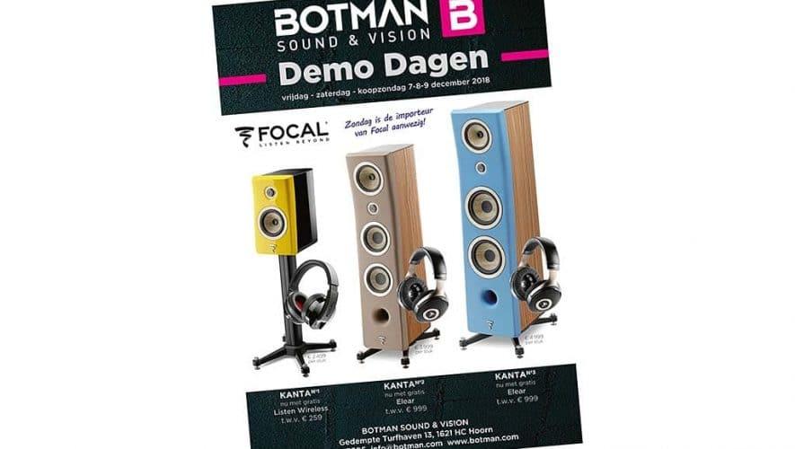 Botman Sound en Vision organiseert op 7, 8 en 9 december - komend weekend dus - een uniek evenement met een aantal bijzondere primeurs