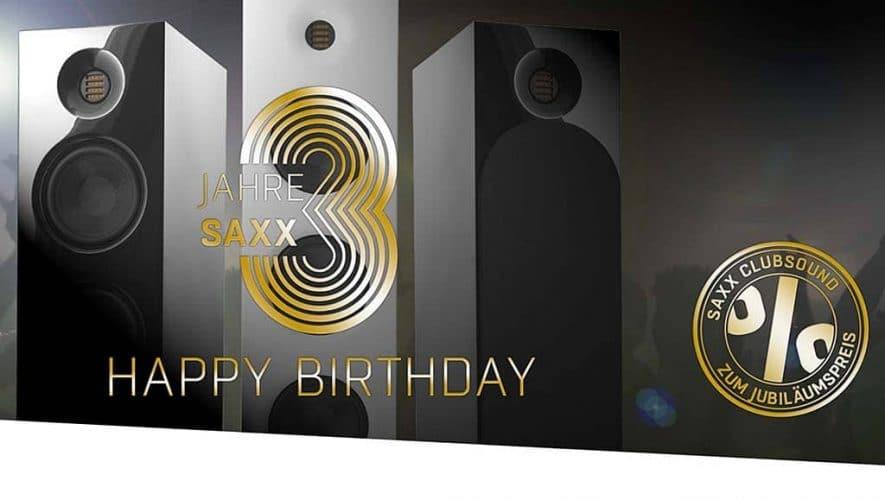 Saxx viert 3-jarig bestaan met clubSOUND-aanbieding