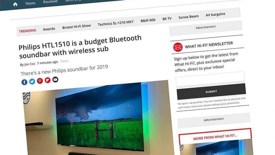 Philips presenteert de HTL1510 budget soundbar met draadloze sub