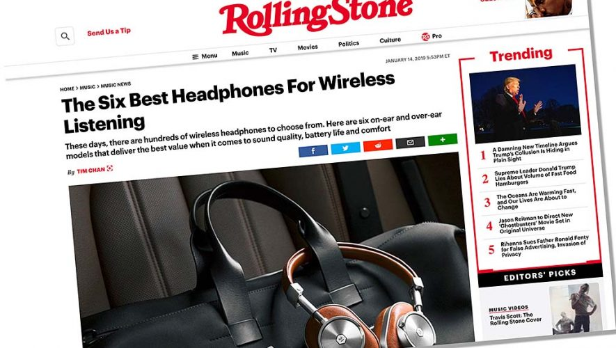 Rolling Stone kiest beste draadloze hoofdtelefoons