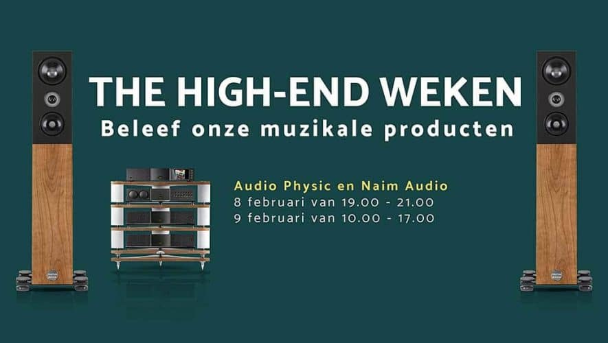 The Hifi Studio Number One organiseert op 8 en 9 februari in het kader van de High-End weken een Audio Physic Structure en Naim Audio weekend.